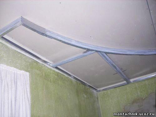 Потолки из гипсокартона для спальни своими руками